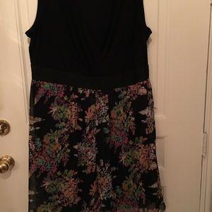Lane Bryant Dress Size 24. Black / Print.
